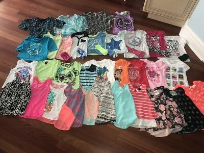 Lot Of 35 Girls Clothes  Size 8