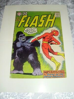 The FLASH #127 -REAL NICE COMIC - CLASSIC GORILLA GRODD COVER - 1962