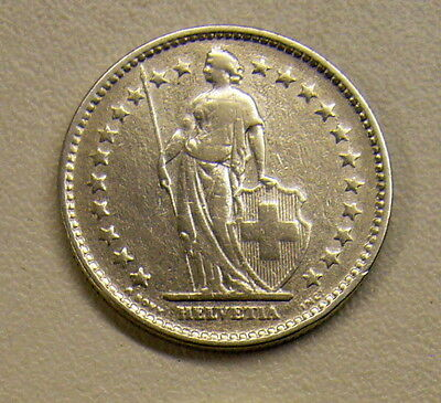 1920 Switzerland 2 Franc Silver Coin