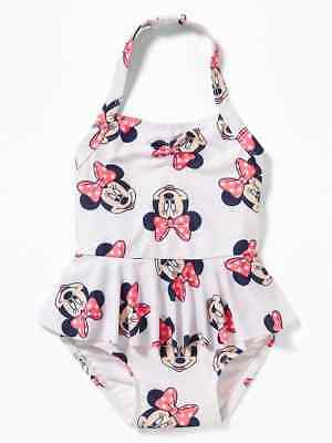 bee1ee6c4dadd NWT Old Navy Disney Minnie Mouse Halter Skirted 1-Piece Swimsuit Girls 3T  4T 5T