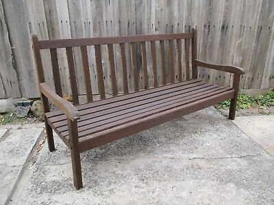 Timber bench seat chair Outdoor garden set.