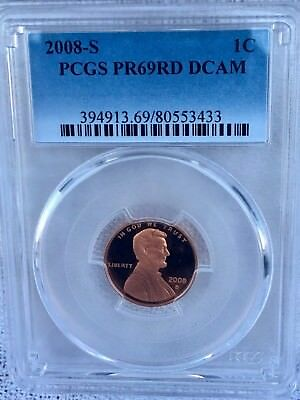 2008-S Lincoln  Proof PCGS PR69RD DCAM  Shipping $$ on First Coin Only
