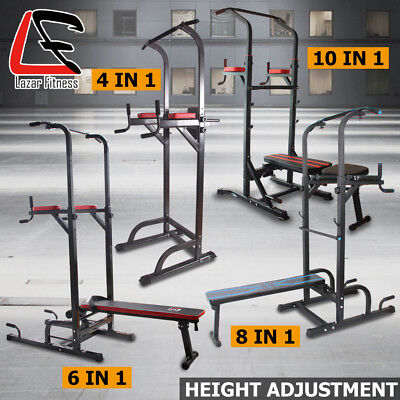 Lazar Fitness Power Tower Chin up Push Pull up Dips Station Knee Raise Home Gym