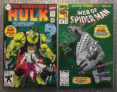 The Incredible Hulk #393 (1ST PRINTING) & Web of Spider-Man #100 (1ST ARMOR) LOT