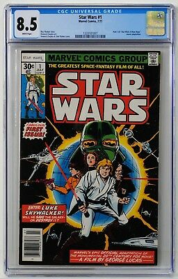 Star Wars #1 CGC 8.5 White Pages!
