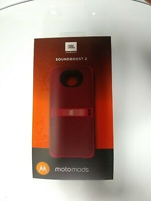 JBL Soundboost 2 Moto Mod Portable Speaker for Motorola Moto Z Red Brand New