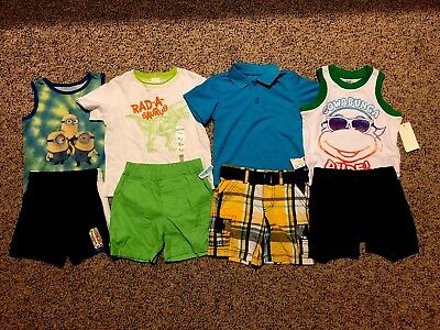 NWT Boys Size 18 Months Lot of Summer CLOTHES Outfits lot 8 pieces Free ship