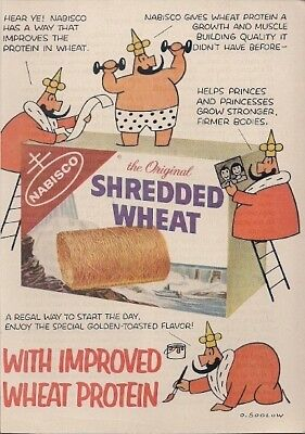 Nabisco Shredded Wheat Improved Wheat Protein Vintage Ad 1959