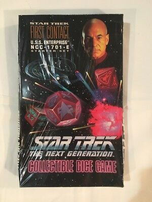 Sealed First Contact Enterprise Starter Star Trek TNG; Collectible Dice Game