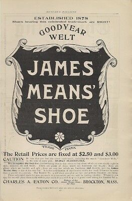 James Means Shoe Goodyear Welt 1904 Vintage Ad