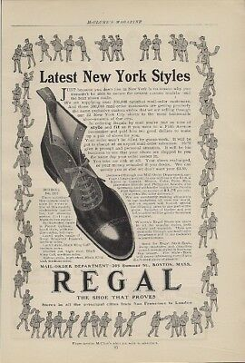 Regal Shoe Latest New York Styles 1904 Vintage Ad