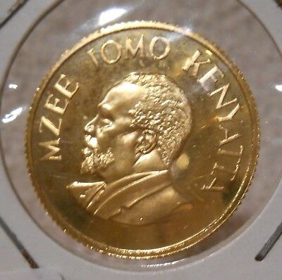 Proof Gold Coin - 1966 Kenya Jomo Kenyatta 100 Shillings Gold Coin KM-7