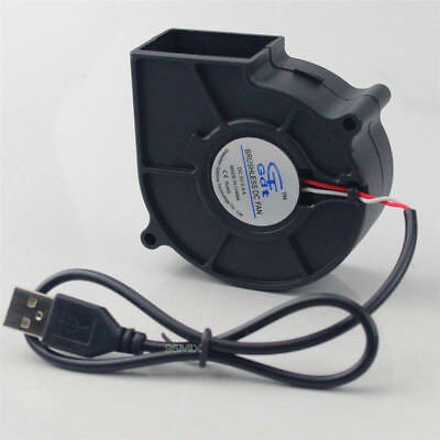 DC 5V Quiet 75mm USB Brushless Sleeve Bearing Fan 75x30mm Portable Cooling Fan