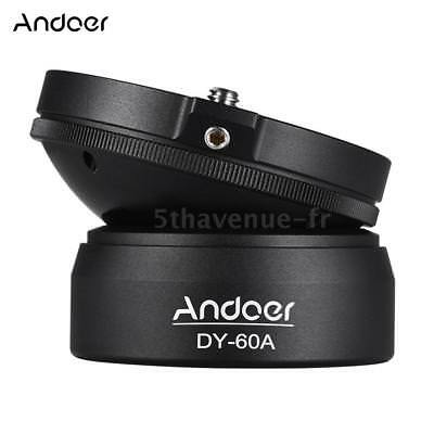 Andoer DY-60A Aluminum Alloy Tripod Leveling Base Panorama Photography Ball S2W3