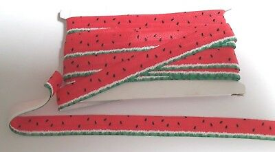 Satin Watermelon  Fold Over Elastic (FOE) Band by the Metre