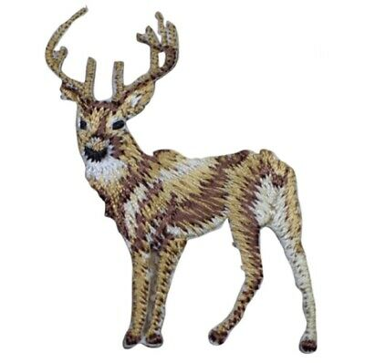 Deer Buck Applique Patch (Small, Iron on)