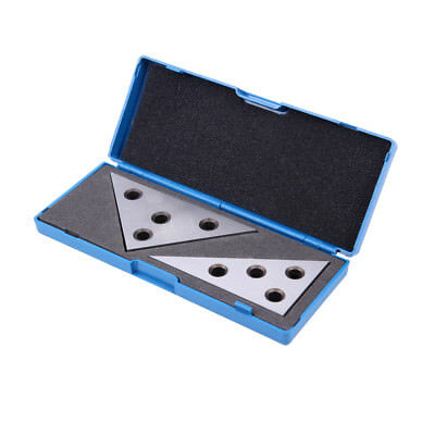 2 Pc Angle Plates Blocks Set Solid Precision 30-60-90 Degree and 45-45-90 Degree