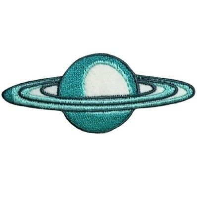 Saturn Planet with Rings Outer Space Applique Patch (Iron on)