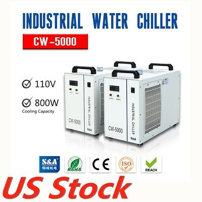 USA Stock CW-5000DG Industrial Water Chiller 80W/ 100W for CO2 Glass Laser Tube