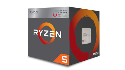 AMD Ryzen 5 2400G Quad-Core 3.6GHz CPU Radeon Vega Processor AM4 Socket 65W BOX