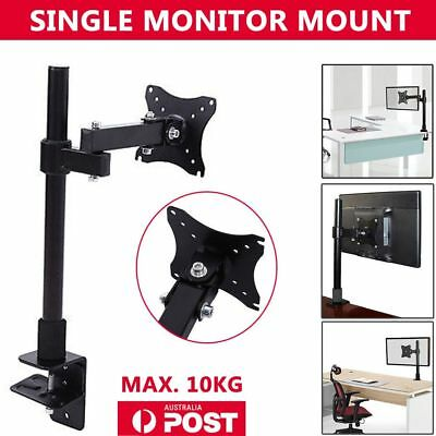 LED Desk Single HD  Mount Monitor Arm Stand Display Bracket Holder LCD Screen TV