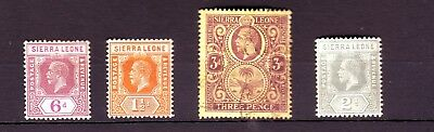OLD AFRICA * BRITISH  POSSESSION of SIERRA LEONE  MINT = 3 =  + 1 USED