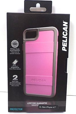 NEW For iPhone 7 & 8 Case Pelican Military Drop Tested Protector Cover Pink/Gray