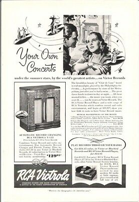 RCA Victrola You Own Concerts Under the Summer Stars Vintage Ad 1939