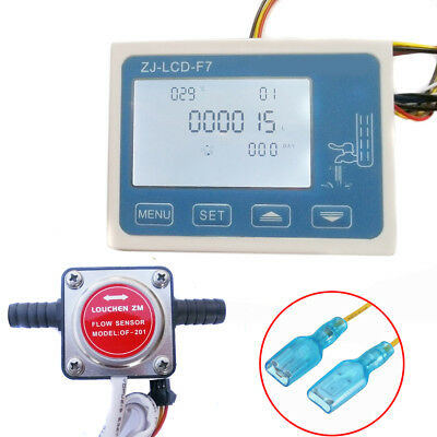 LCD Digital Fuel Oil Flow Meter Flowmeter With 13mm Gasoline Gear Flow Sensor 11