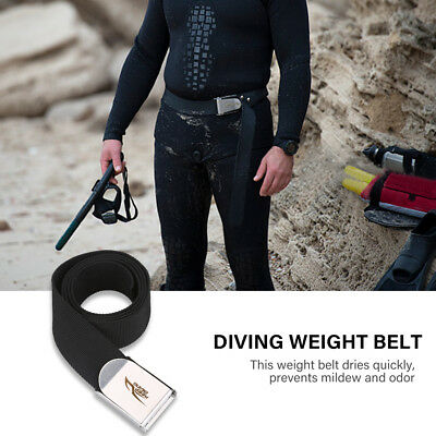"Keep Diving Scuba Diving 59"" Long 2"" Webbing Belt with Stainless Steel Buckle"