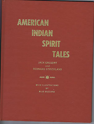 American Indian Spirit Tales book 1974 signed illustrated folklore