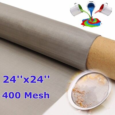 61*61cm Stainless Steel Woven Wire 400 Mesh Filtration Grill Sheet Fine Filter