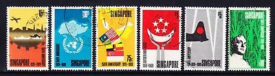 SINGAPORE 1969 SG121/26 Anniversary of Founding - set of 6 - fine used. Cat £90