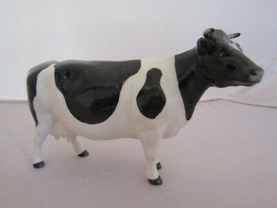 """Beswick FRIESIAN COW CH.""""CLAYBURY LEEGWATER"""" issued 1954-97 Model 1362A Perfect"""