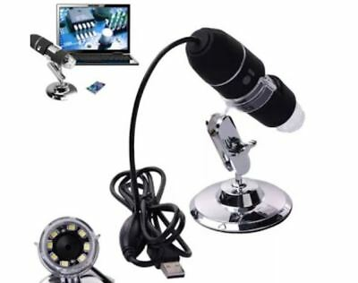 Endoscopio digitale microscopio 2MP 1000X 8 LED USB Camera Magnifier + Stand