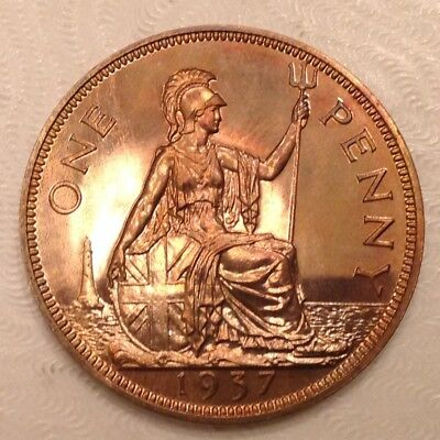 - 1937 Great Britain George VI Penny  - Choice Proof