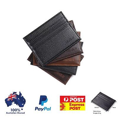 Small Card Holder Wallet Slim Opal Card ID card men's wallet ,Aussie seller