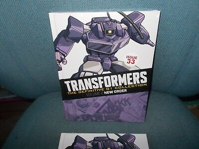 TRANSFORMERS - THE DEFINITIVE G1 COLLECTION - ISSUE 33 (Vol:2) NEW ORDER - NEW!