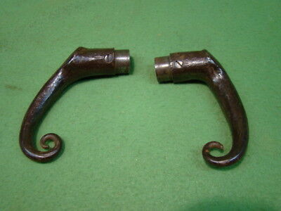 Pair Of Antique Blacksmith Made Door Knobs Hand Forged Arts & Crafts Door Handle