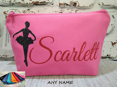 personalised ballerina makeup accessories bag wash bag cosmetic pouch gift