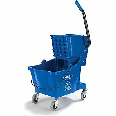 Buckets Carlisle 3690814 Commercial Mop Bucket Side Press Wringer, 26 Quart Blue