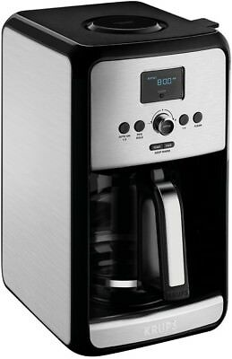 Krups Coffee Maker 12cup Programmable Glass Carafe Gold Tone