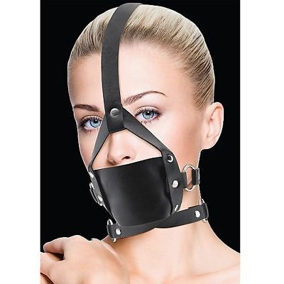 Ouch Leather Mordaza Negro Con Ajustes (Cod. Dl-D-205458)