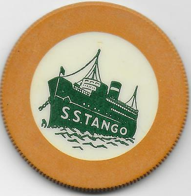 Nice Yellow Crest & Seal Casino Chip From Long Ago-S. S. TANGO-Casino Off Calif.