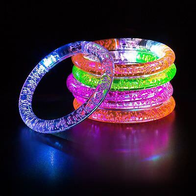 Party Bag Fillers LED Glowstick Bracelet Flashing Blinking Light Bangle Unisex