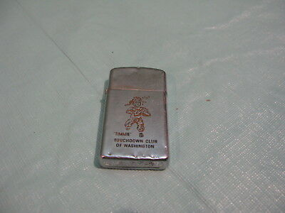 Vintage Zippo Lighter - Timmie Touchdown Club Of Washington Redskins Football
