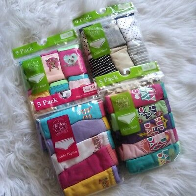 8a861fdd59fb 4 New FADED GLORY 9 & 5 Pack Girl's Hipsters Briefs Girly Underwear, ...