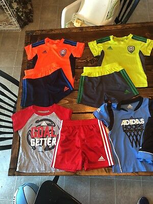 Adidas Lot Of 4 12 Month Blys Short And Shirt Sets