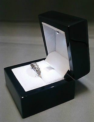 Valentines Real Wood Ring Box with LED Light. For valentines diamond ring