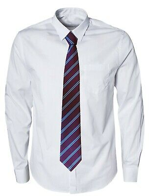Football Club Tie Burnley  FC Colours  Claret + Sky Blue Stripes